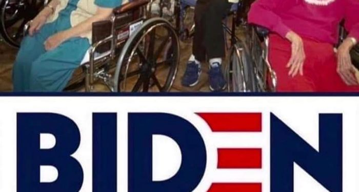Trump shares manipulated image of Biden in wheelchair at nursing home