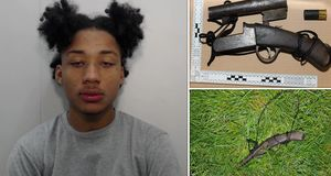 Teenager jailed after cycling round Manchester with a loaded shotgun